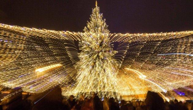 基辅市中心庆祝新年