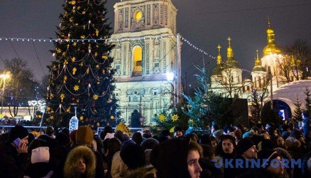 Новий рік та Різдво у Києві. Інфографіка