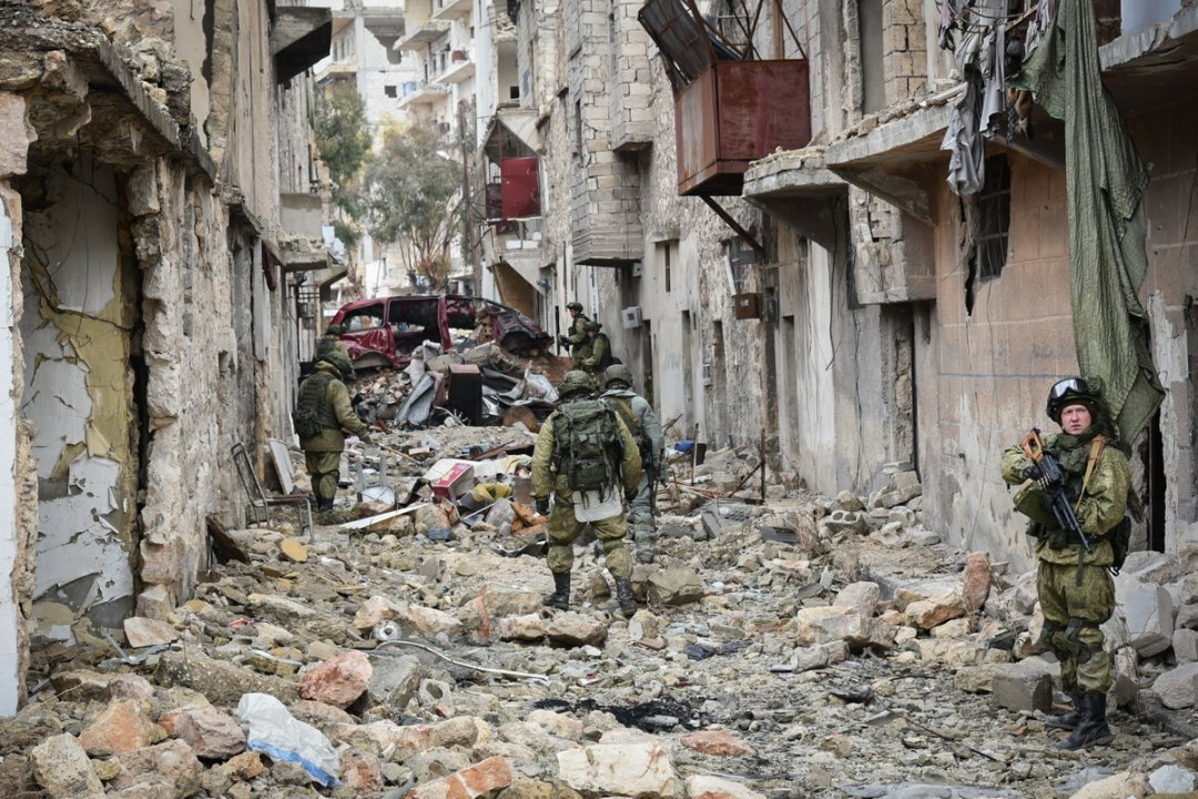 Російські військові в Алеппо