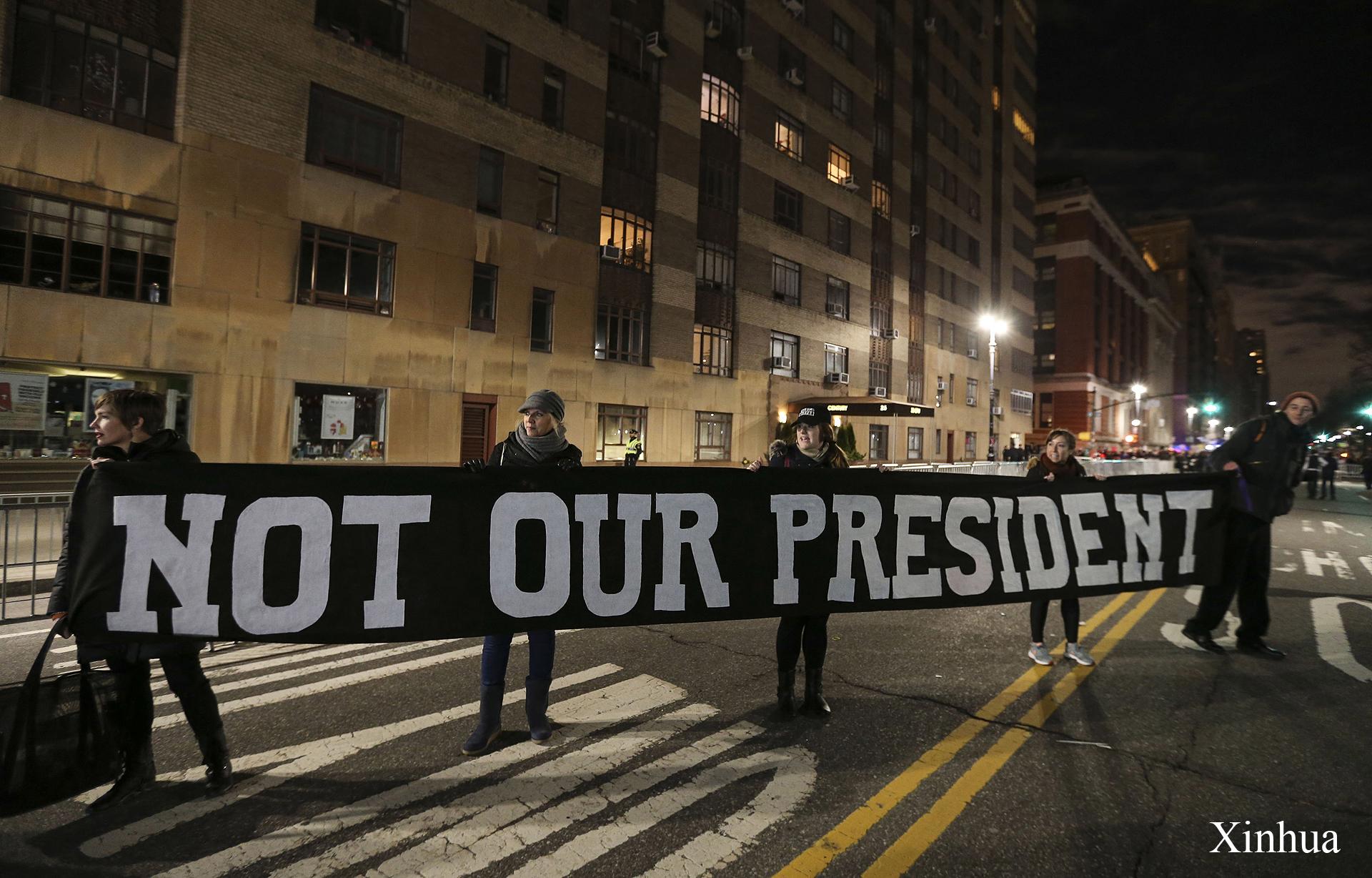 Демонстрация против Трампа в Нью-Йорке / Фото: Xinhua / Укринформ