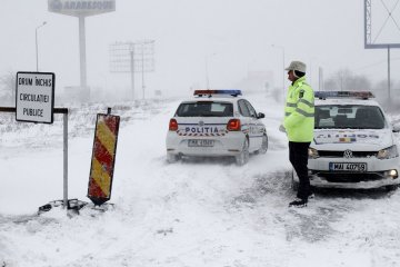 Ukrainians advised to restrict travel by car to Bucharest and several counties due to snowfall in Romania