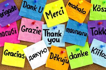 Aujourd'hui, c'est la journée mondiale du mot «merci»