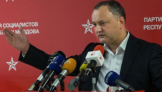 Додон хоче винести питання Придністров'я на референдум