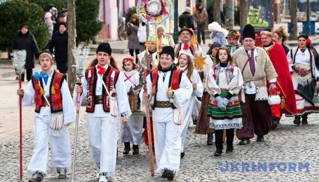 Украинцы восточного обряда празднуют Рождество Христово