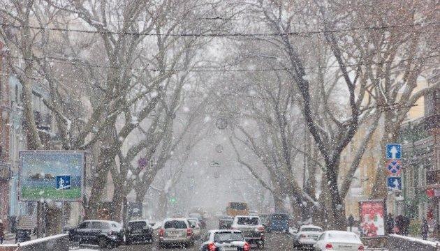 В Одессе - штормовое предупреждение из-за снегопада