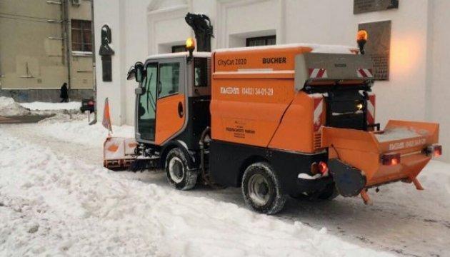 За сутки из Киева вывезли почти пять тысяч тонн снега