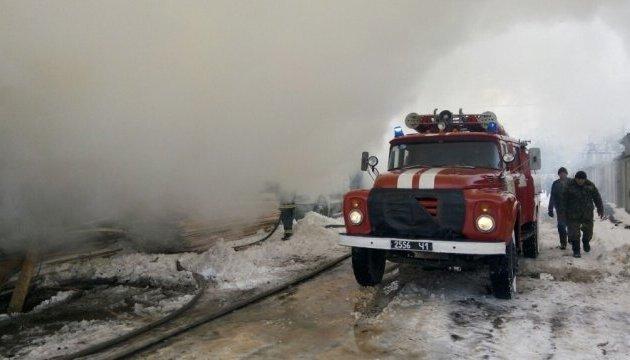 Под Киевом горит пилорама
