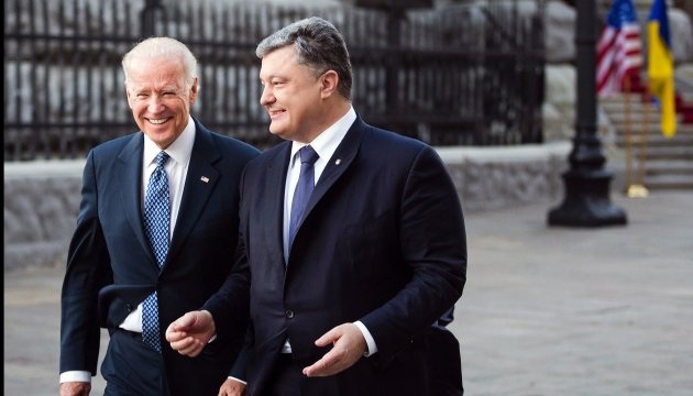 Poroshenko assures Biden: Ukraine will never return under Russia's control (photos)