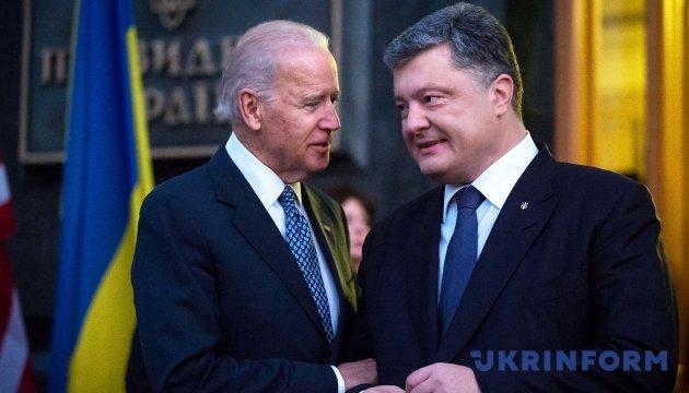 Время встречи Порошенко с Байденом перенесли