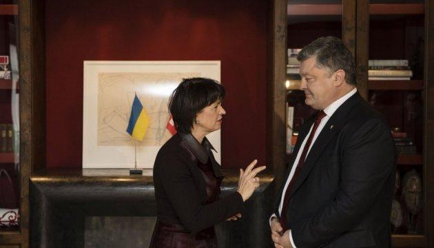Давос: Порошенко встретился с президентом Швейцарии