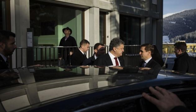 Poroschenko in Davos: Bilaterale Gespräche und Sitzung des Investitionsrates