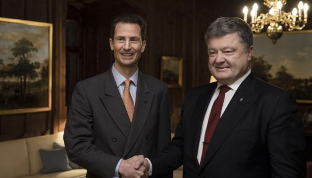 President of Ukraine meets with Hereditary Prince of Liechtenstein for the first time in history of bilateral relations