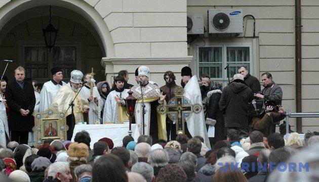 Во Львове совместное водосвятие в этом году возглавила Армянская церковь