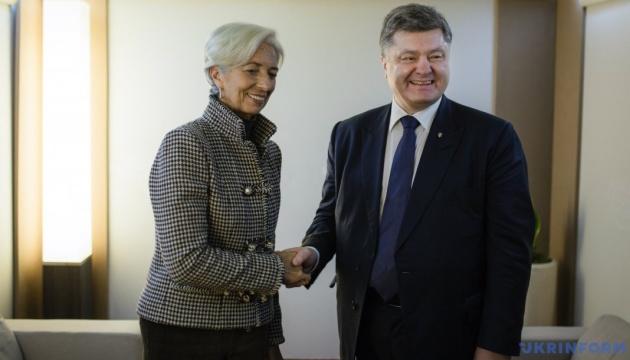 Porochenko et Lagarde discuteront de l'économie et des investissements à Davos