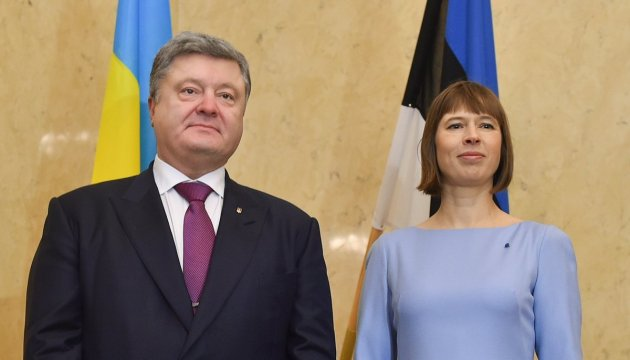 Ukraine, Estonia to intensify economic cooperation – Poroshenko