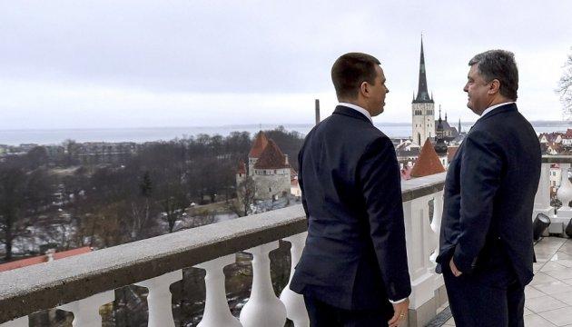 Порошенко: Эстония - перспективный экономический партнер Украины