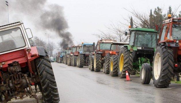 Грецькі фермери влаштували в чотирьох містах