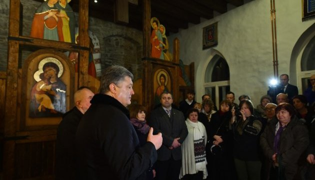 Порошенко вдячний українцям Естонії за їх підтримку у боротьбі з агресією РФ