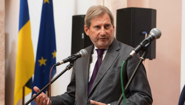 EU Commissioner Hahn to visit Ukraine to discuss fight against corruption, decentralization and aid to Donbas