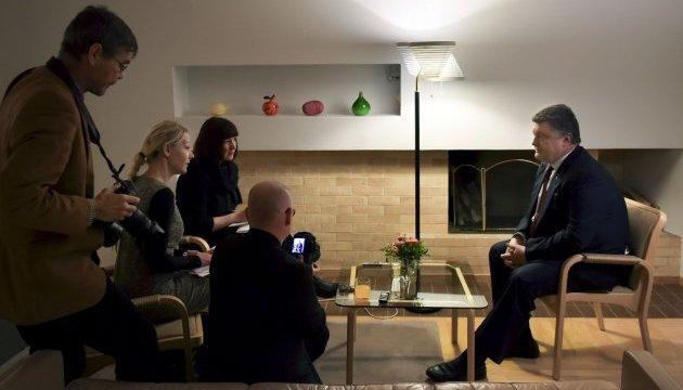 Порошенко в інтерв'ю фінським ЗМІ: Путін хоче підірвати довіру й роз'єднати ЄС
