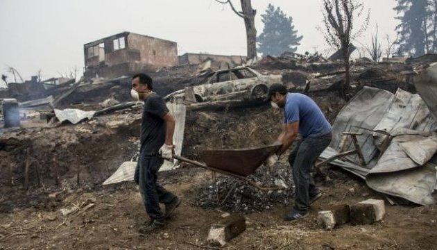 У Чилі лісові пожежі знищили місто