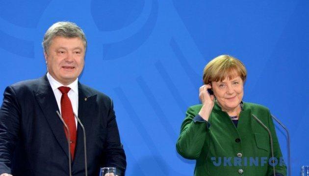 Порошенко обсудит с Меркель