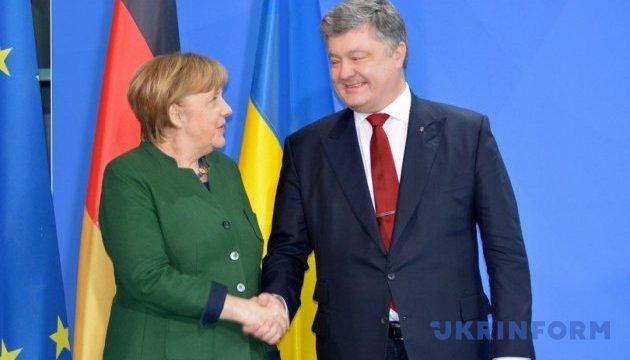 Порошенко привітав лідерів німецьких партій з досягненням угоди про коаліцію