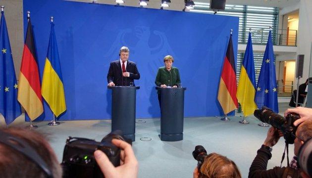 Украине нужна Германия как лидер, способный объединить Европу - Порошенко