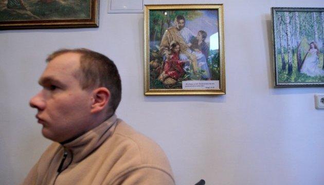 Люди с нарушениями зрения посетили выставку в Укринформе и рассказали о помощи АТО