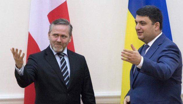 Incrementar la calidad de la cooperación con Ucrania es muy importante para Dinamarca