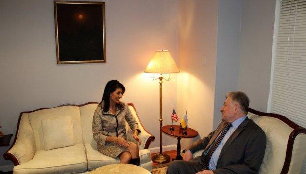 Ельченко встретился с новым представителем США в ООН