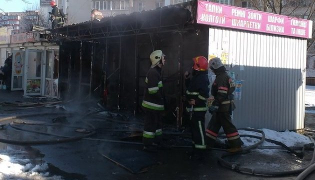 В Киеве в Дарницком районе горели киоски