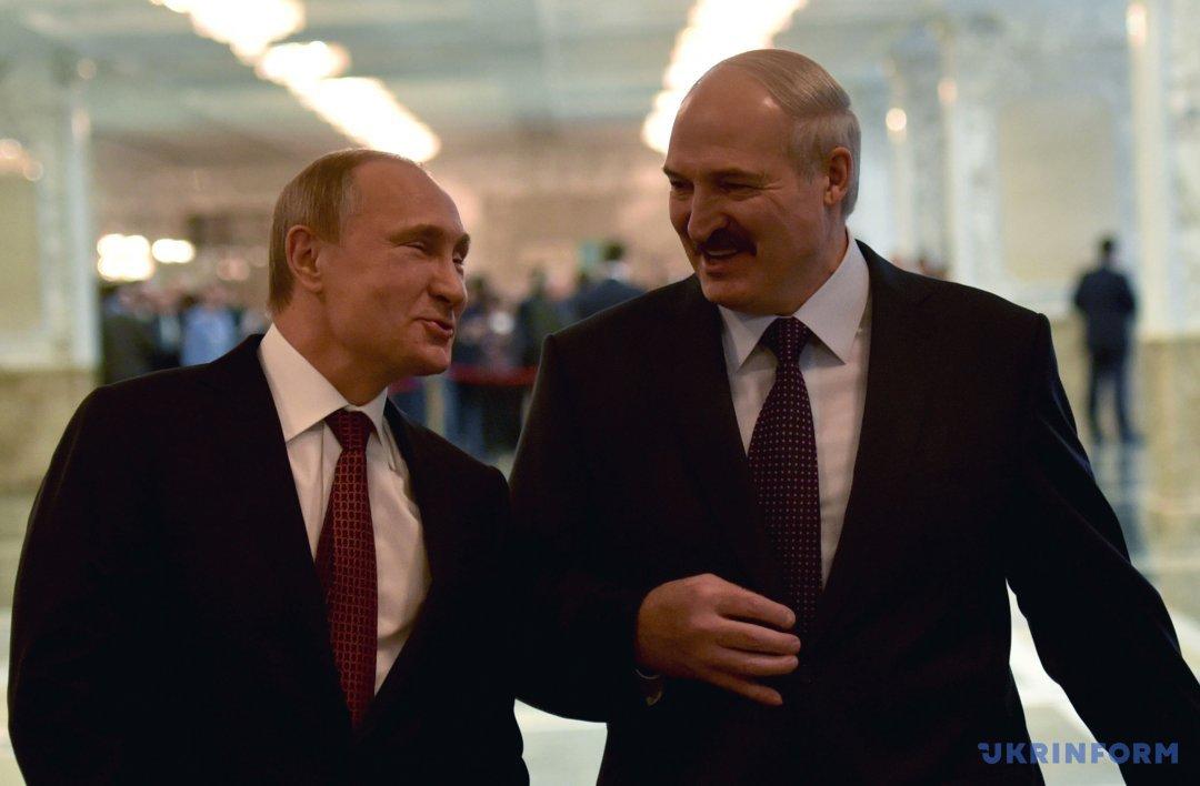 Президент РФ Володимир Путін і президент Білорусі Олександр Лукашенко