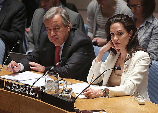 Антоніу Гутерреш і Анджеліна Джолі / Фото: Getty Images /Дж.Контес