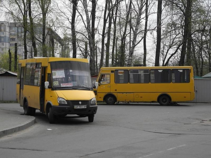 Маршрутки в місті Вишневому