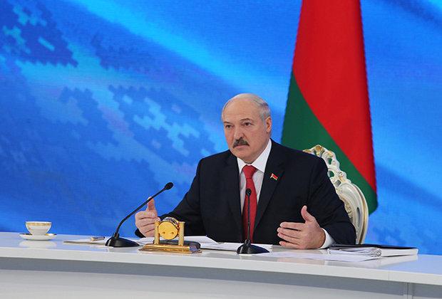 Президент Білорусії Олександр Лукашенко на прес-конференції в Мінську. 3 лютого 2017