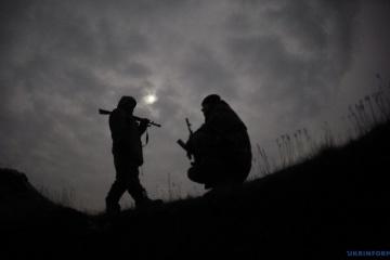 Ein Soldat im Donbass vermisst