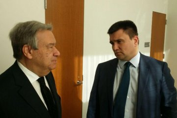 Ukrainian Foreign Minister Klimkin, UN Secretary General Guterres discuss Minsk agreements implementation