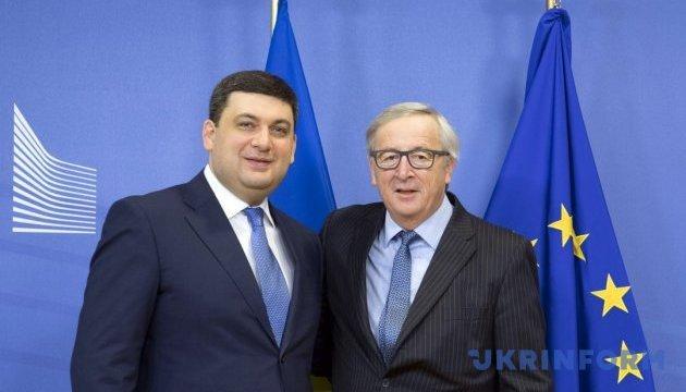 Юнкер подтвердил намерение дать Украине безвиз до лета