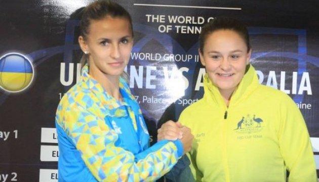 Украинские теннисистки ведут в матче с австралийками в Кубке Федерации