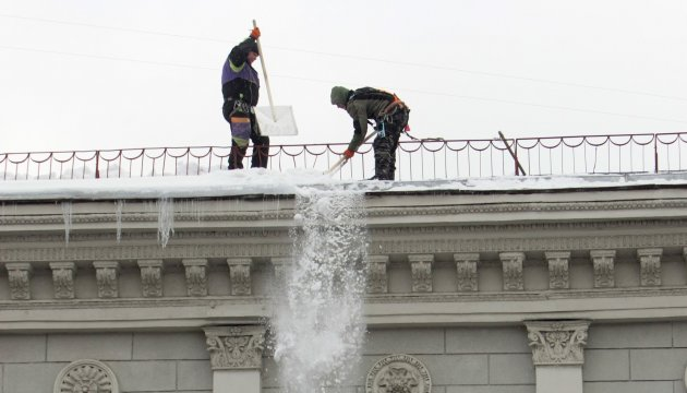 Over 2,000 tonnes of snow removed from streets of Kyiv
