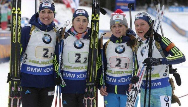Украинские биатлонистки выиграли