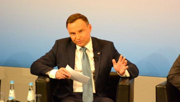 Дуда хочет назначения военного атташе в Украине