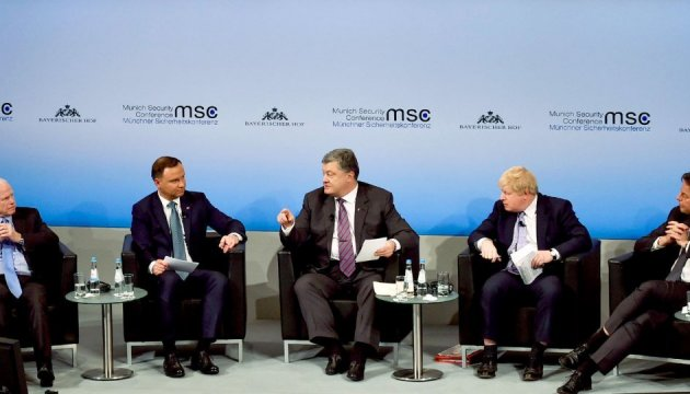 Poroshenko, Duda discuss escalation in Donbas in the framework of Munich Security Conference