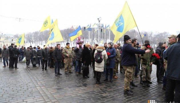 Шествие памяти Героев Небесной Сотни отправилось от Украинского дома