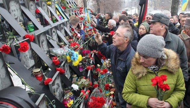 Gedenkzug für himmlische Hundertschaft in Kiew