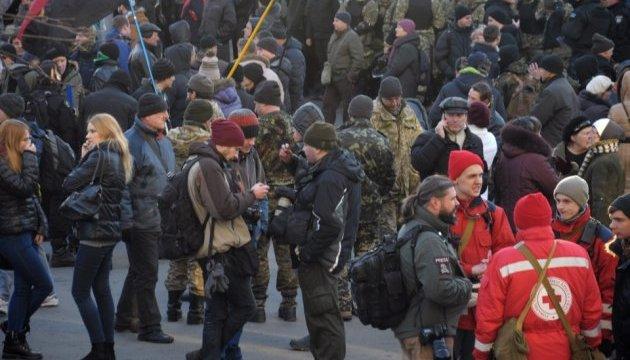 У центрі Києва активісти побилися з правоохоронцями. Коханівського затримали - активіст