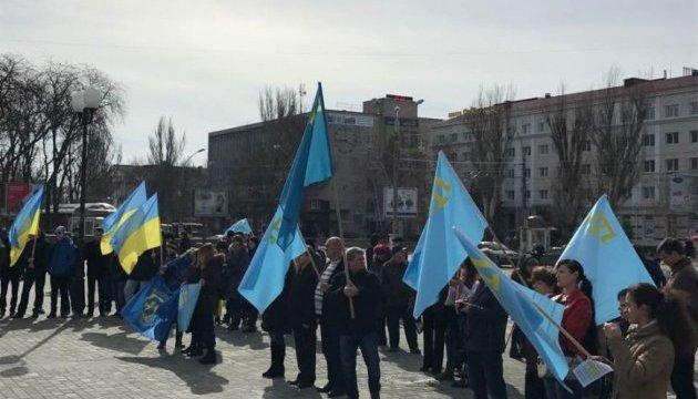 У Херсоні відбувся мітинг проти російської окупації Криму
