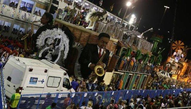 Карнавал у Ріо: обвалилася платформа, 15 постраждалих