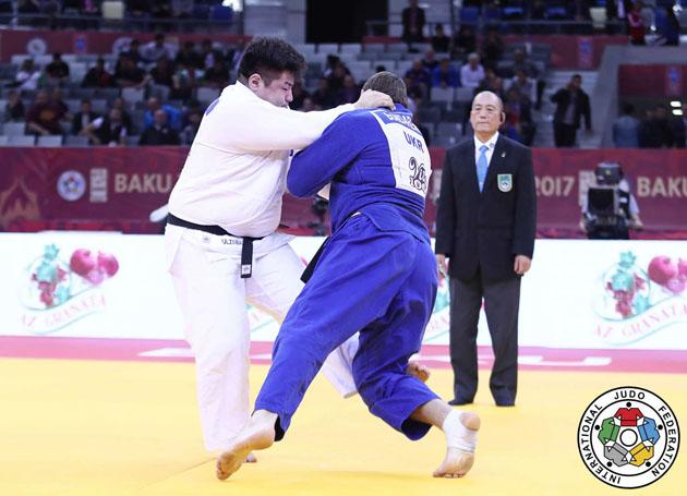 Baku Grand Slam 2017, BRONZE MGL ULZIIBAYAR vs UKR BONDARENKO, +100 kg